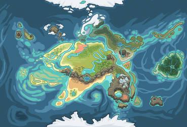 Griffia World map (my species) by griffsnuff