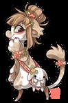 #37 Bagbean - White mini plush lop bunny
