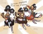 NPC Bagbean - German shepherd triplets by griffsnuff