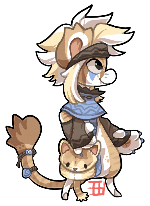 #94 Bagbean - Sand cat by griffsnuff