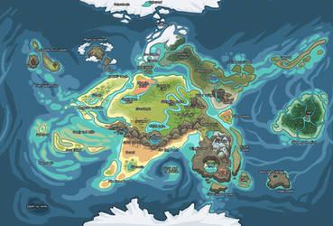 griffia world map Land names by griffsnuff