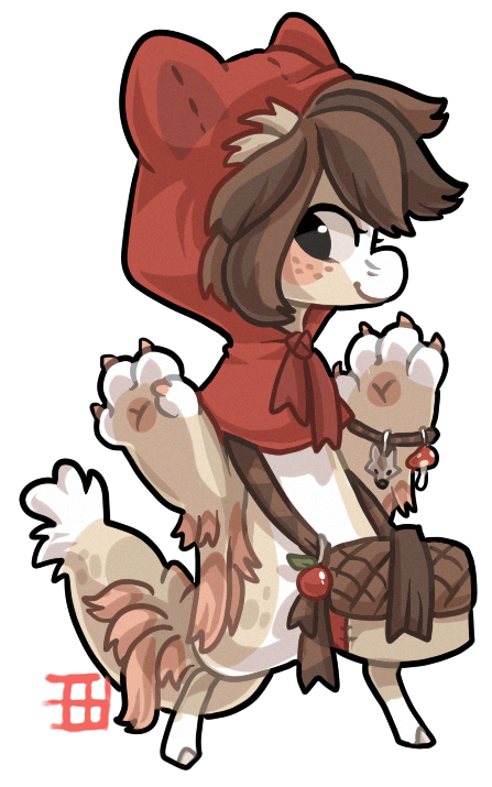 #344 CharityTale Bagbean - Red riding hood CLOSED by griffsnuff