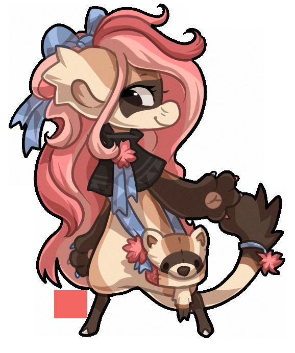 #352 Bagbean - Black footed ferret by griffsnuff