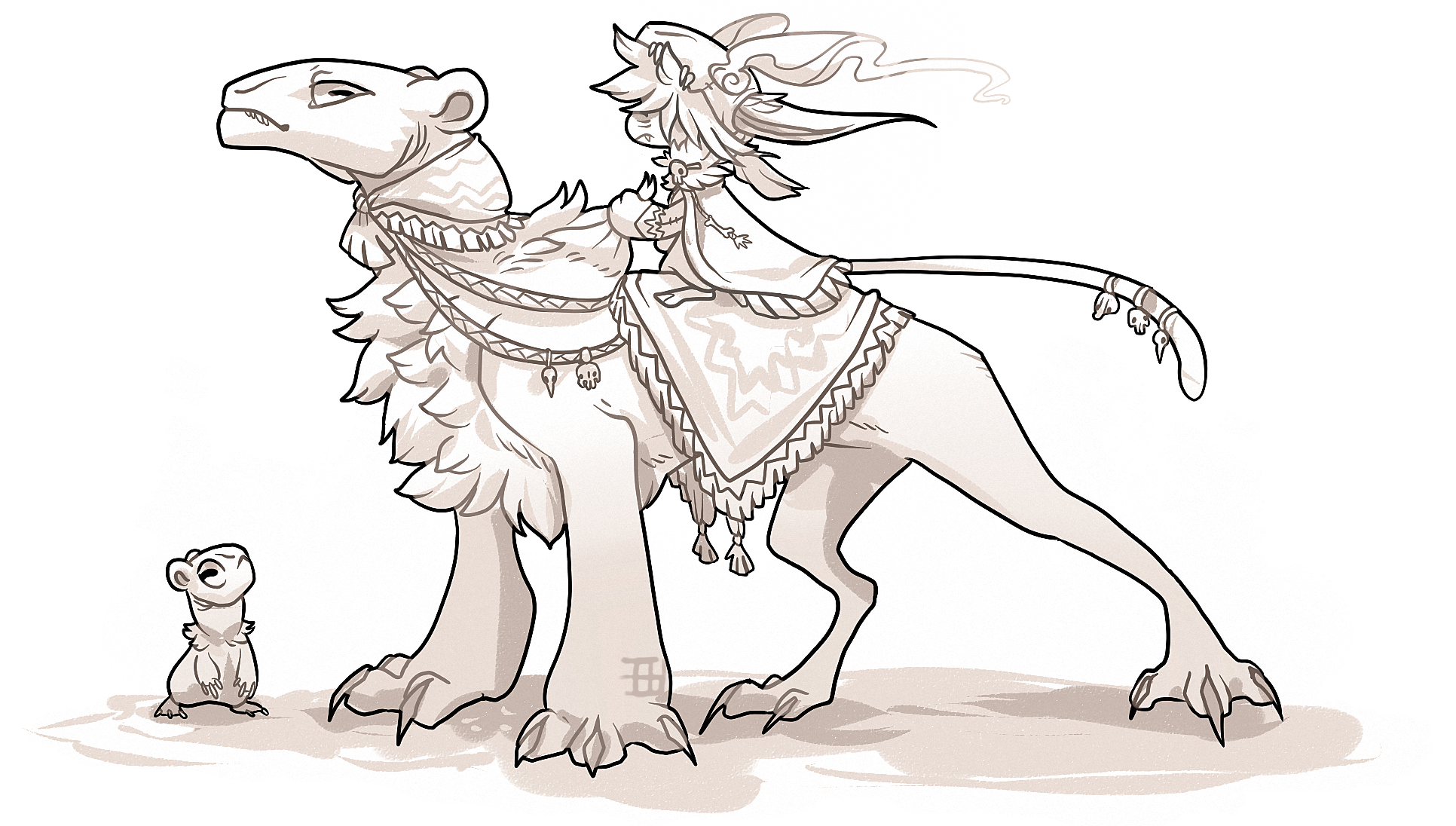 Tribal Bagbean and Ursaraptors by griffsnuff