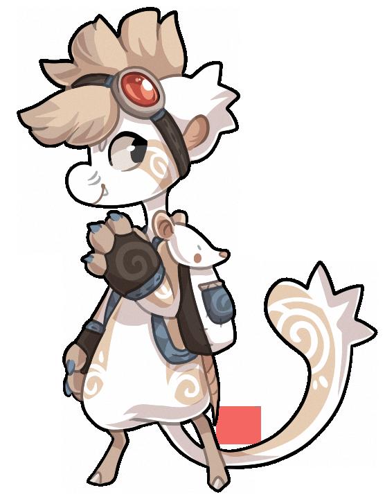 #490 Bagbean - Albino Rat by griffsnuff