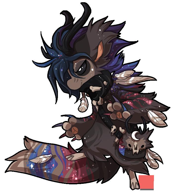 #552 Mythical BB w/m - Space Wendigo by griffsnuff