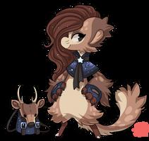 #705 Bagbean w/m - Samba Deer by griffsnuff