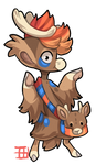#846 Bagbean w/m - Thorolds Deer - Closed