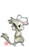 #864 Cursed Floral BB - Sprout - Feather Cactus