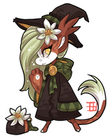 #1013 Magical Floral BB - Bloodwort - Auction by griffsnuff