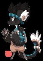 #1179 Bagbean - Black headed Jay - Flatsale CLOSED by griffsnuff