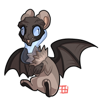 #98 Geotura - Small - Pumice Bat by griffsnuff