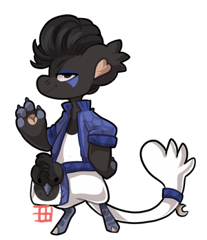 #1537 Charity Bagbean - Curl crested jay - AUCTION