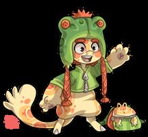 #1697 Bagbean - Pacman Frog by griffsnuff