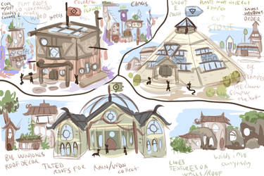 Griffia continent architecture doodle concepts by griffsnuff