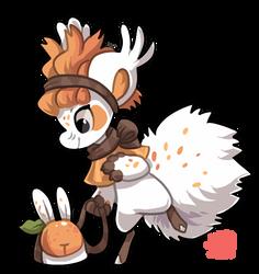#1820 Celestial BB - Orange Bunny by griffsnuff