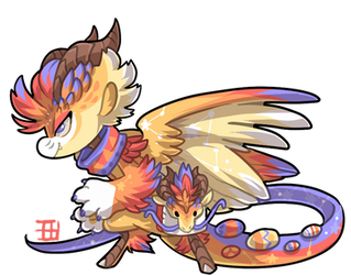 #1853 Mythical BB - Easter Dragon by griffsnuff