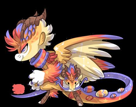 #1853 Mythical BB - Easter Dragon