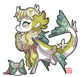 #2507 Mythical BB - Butterfly mermaid by griffsnuff
