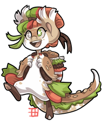 #2509 Mythical BB - Burger Mermaid by griffsnuff