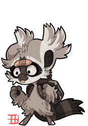 #2574 Celestial BB - Trash Panda [RAFFLE CLOSED] by griffsnuff