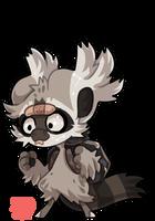 #2574 Celestial BB - Trash Panda [RAFFLE CLOSED] by griffsnuff