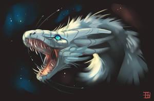 Space Yeti Dragon Doodle