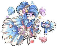 #4204 Mythical BB - Betta Mermaid