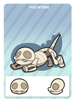 GIC - Griffian info card - Skeleton Wyrme
