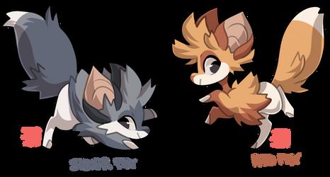 #80-81 Pelsaur - Foxes