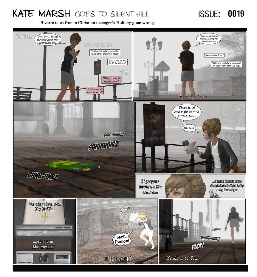 KM Goes to Silent Hill [Issue# 0019] by campinkarl on DeviantArt