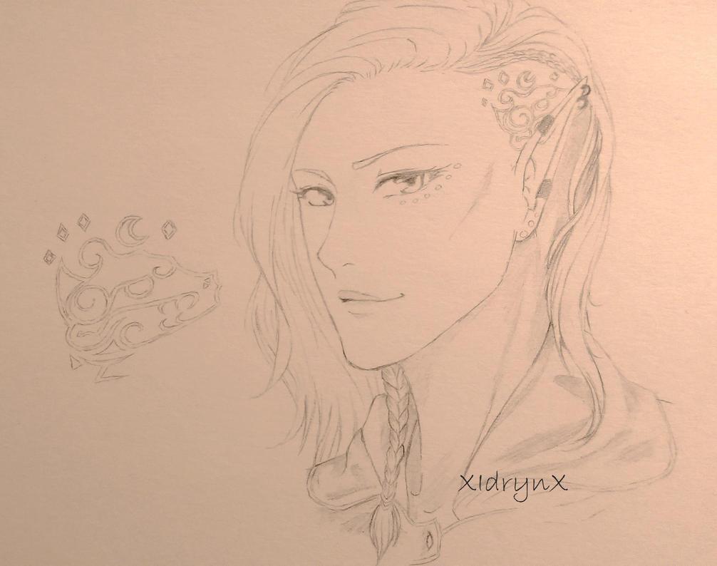 Sketch: OC Vanya by XIdrynX