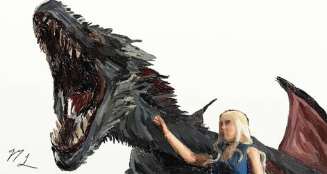 Drogon Daenerys Targaryen by firyace