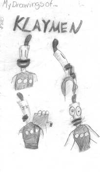 My Drawings of Klaymen(Old Booklet Cover)