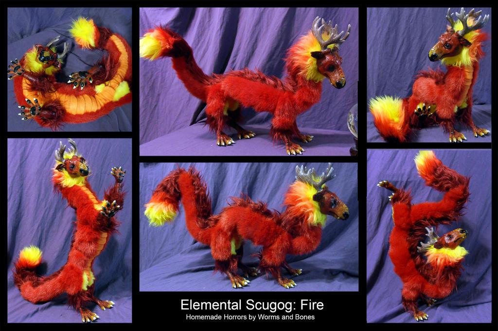 Elemental Scugog: Fire by WormsandBones