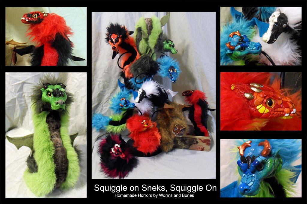 A Squiggle of Sneks by WormsandBones