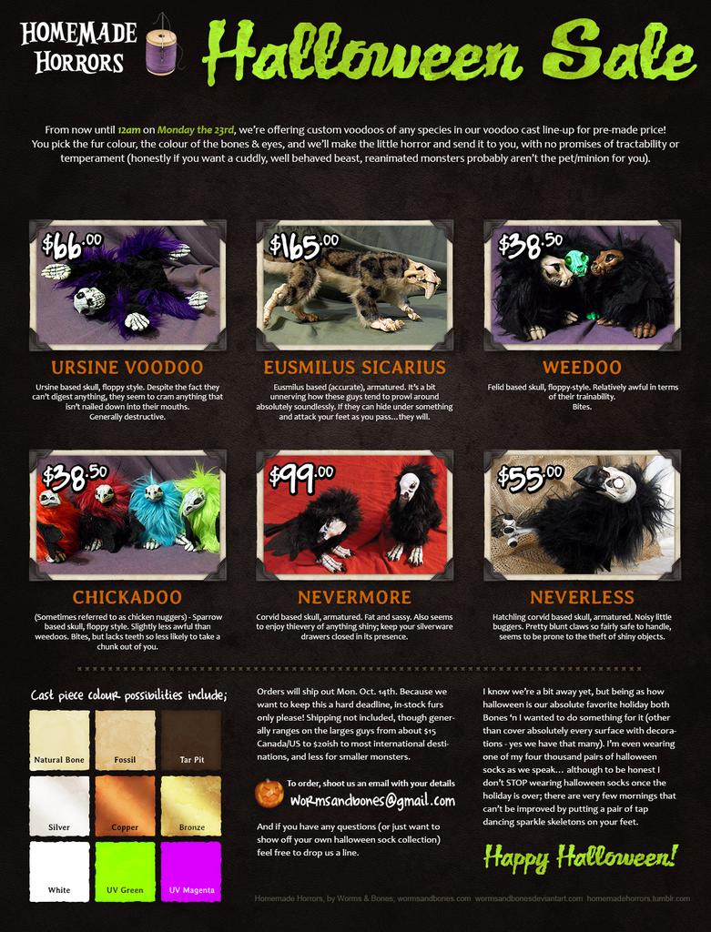 Homemade Horrors Halloween Sale! by WormsandBones