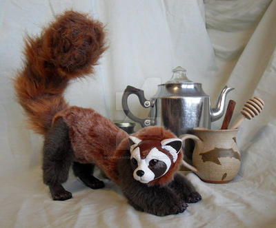 Legend of Korra Pabu Art Doll - For Auction by WormsandBones