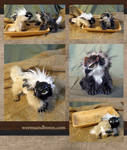 Chickadee and Great Horned Owl Gryphon Kittens