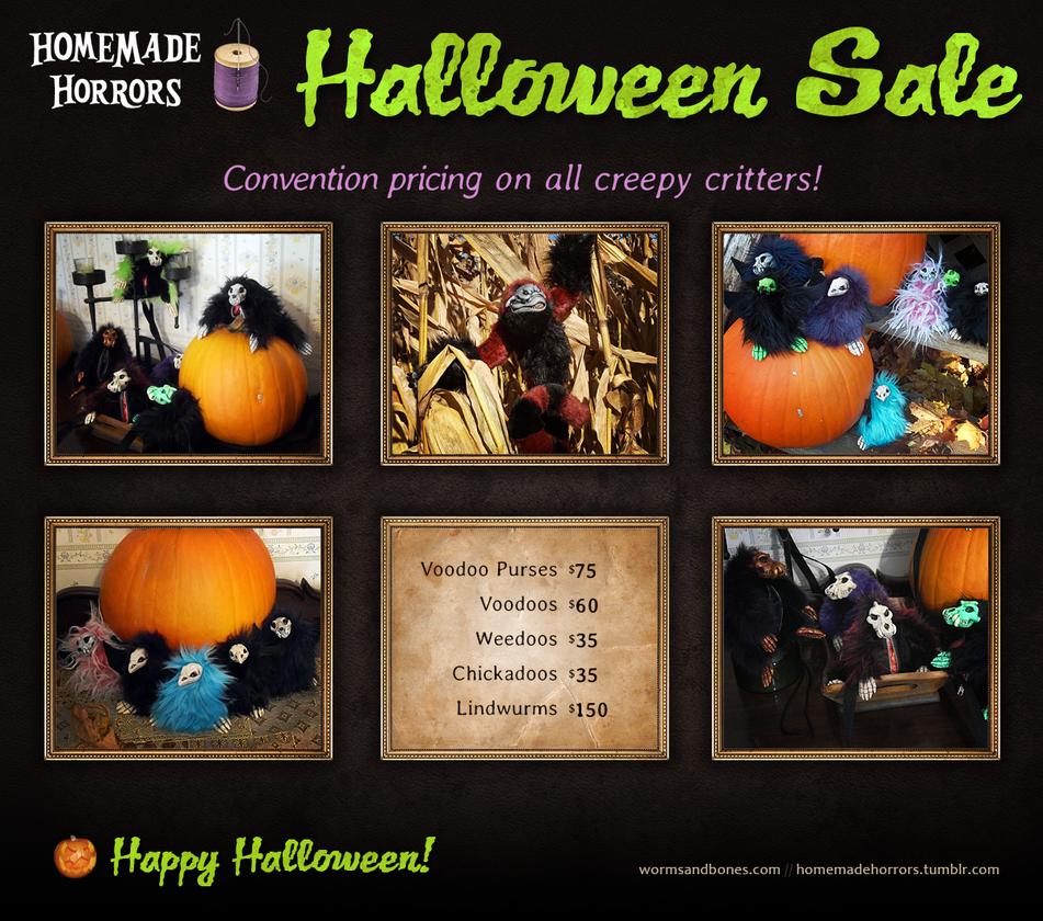 Halloween Sale Creepies by WormsandBones