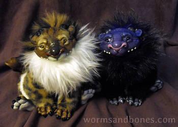 Golden Bengal and Dusk Rex Manticore Cubs