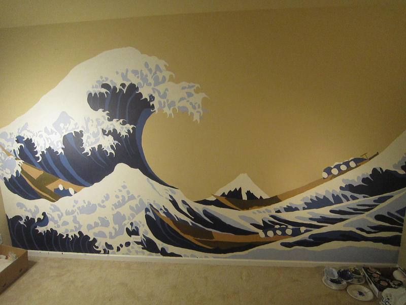 The Great Wave Mural by inkspill94