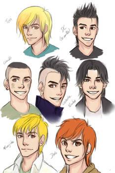Sketch personagens Turma da Monica Jovem