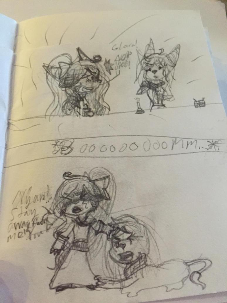 Klura and Glara Comic (not done yet) by BonBon120
