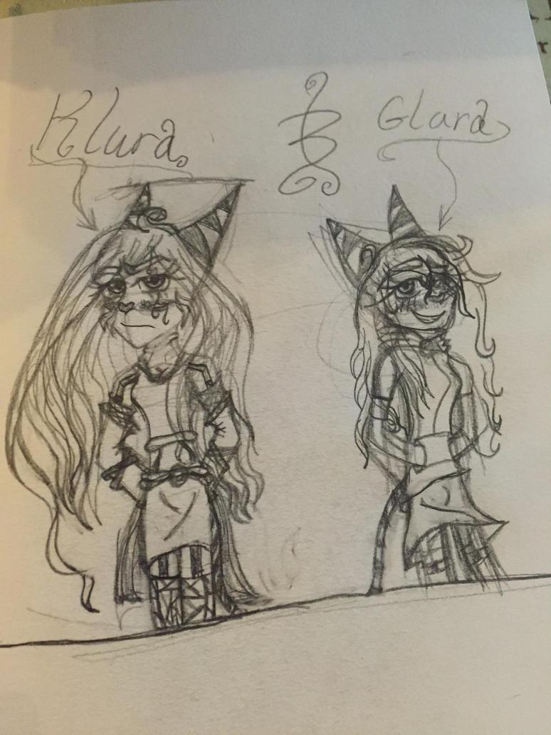 Older Klura and Glara by BonBon120