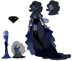 SU Black Night  Diamond Court Adopt (SOLD) by SmilesUpsideDown