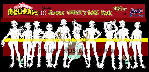 [P2U] BNHA Female Variety Base pack