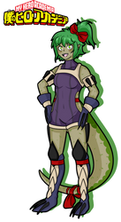 [BnHA] Komodo dragon girl hero suit Custom