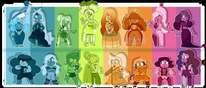 [SU] Rainbow Ruby and Sapphire Adopts ( (CLOSED)