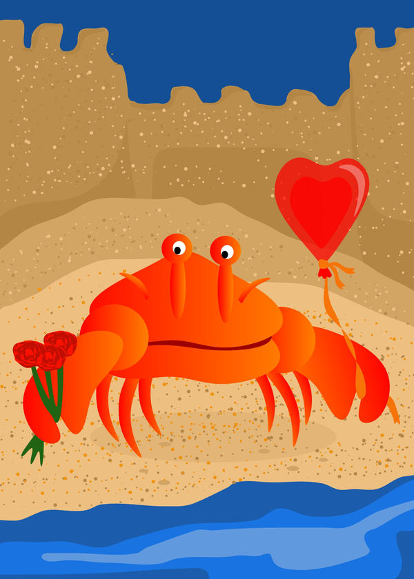 Crabby Suitor Valentines Day by lehsa
